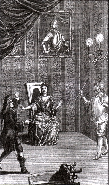 Engraving of Thomas Betterton as Hamlet